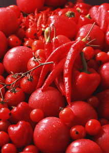 красные овощи фрукты